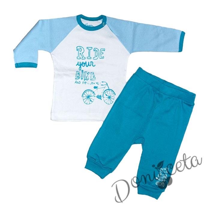 8423e4a376d Комплект от блузка с панталонче рипс